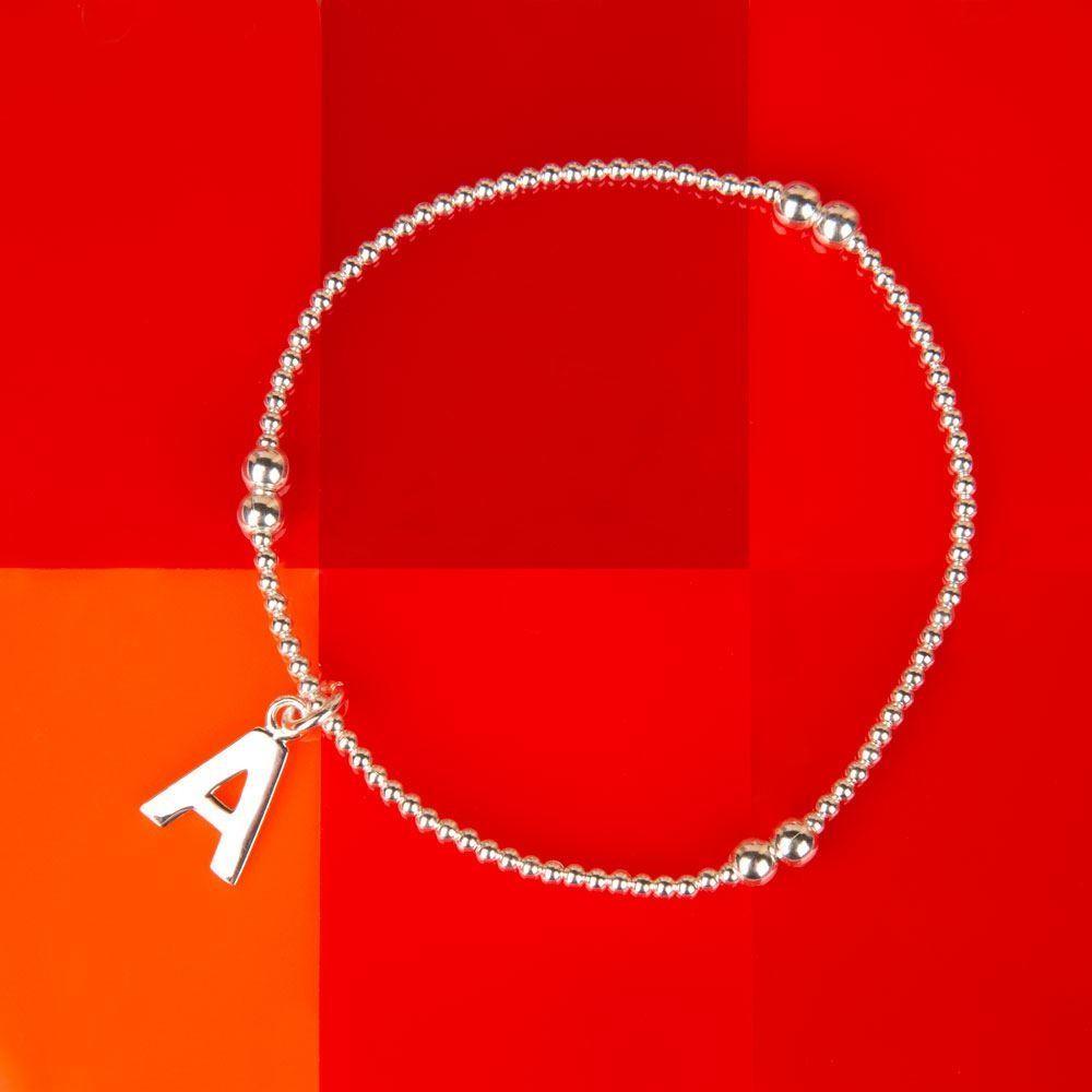 Sterling Silver Initial Bracelet