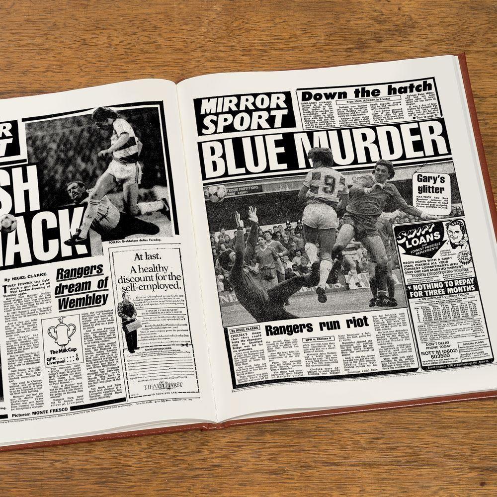 Personalised Queens Park Rangers Football Club Headline Book