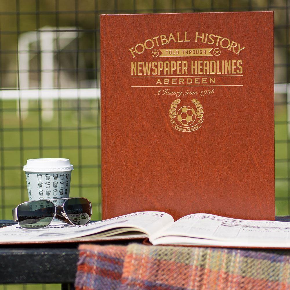 Personalised Aberdeen Football Club News Headlines Book