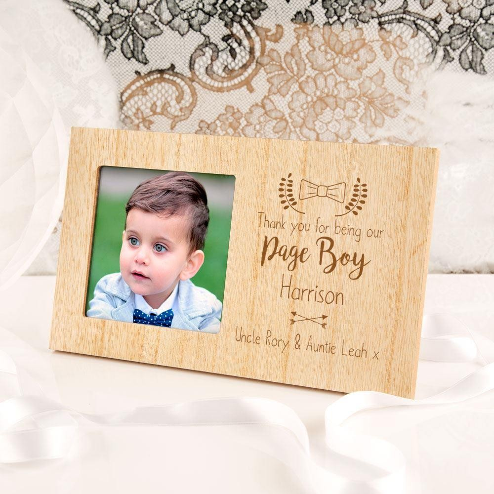 Personalised Page Boy Wooden Photo Frame