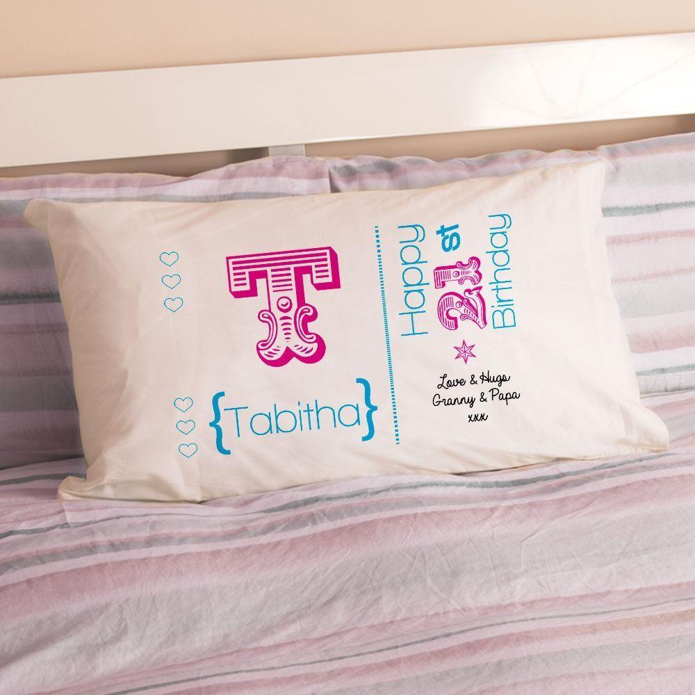 Personalised 21st Birthday Letter Pillowcase For Girls