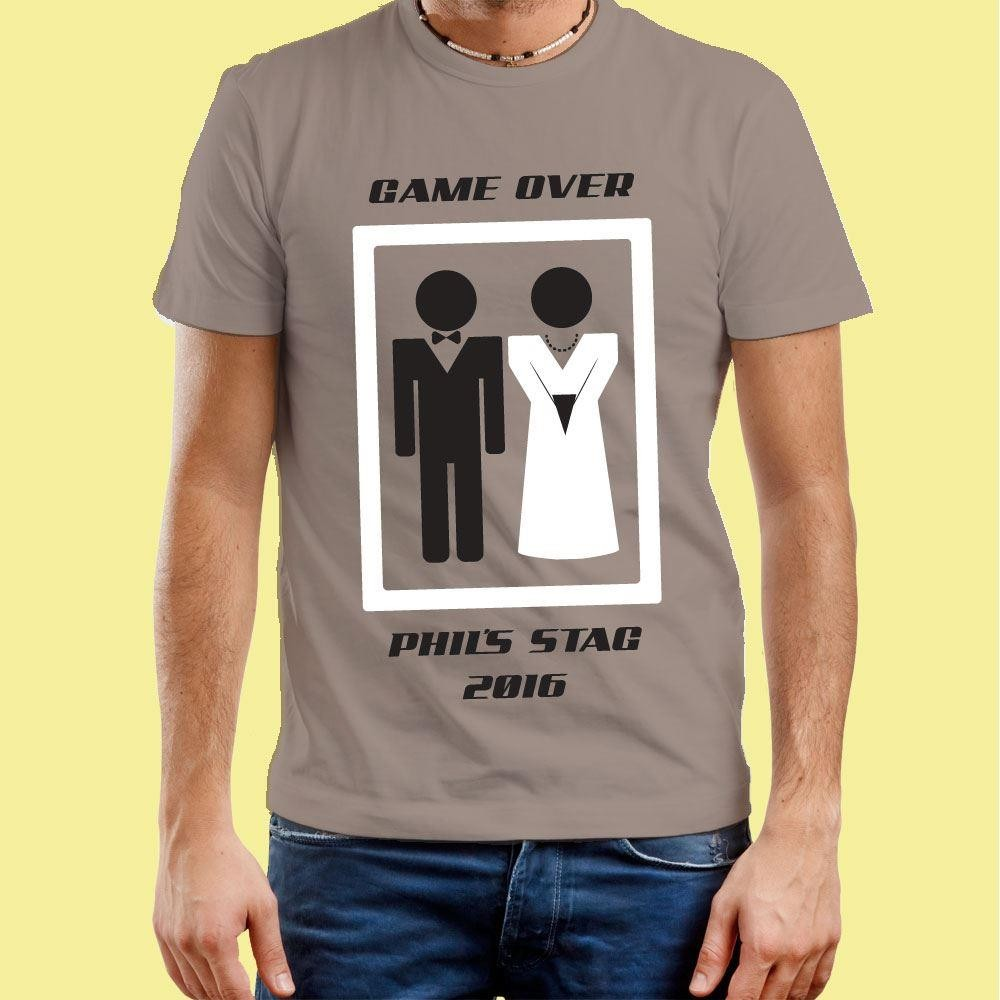 Stag Do: Game Over Customised T-Shirt