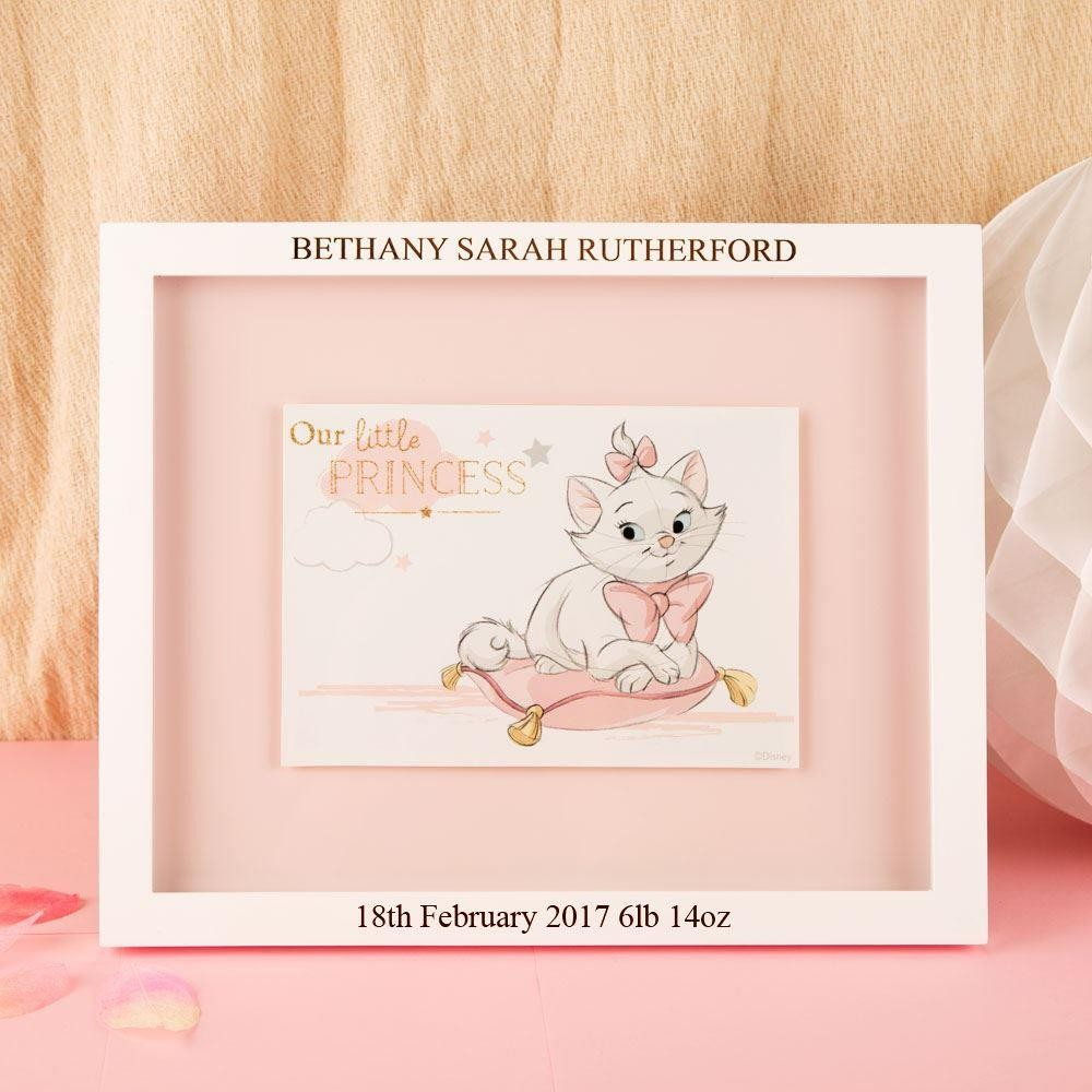 Personalised Aristocats Marie Print and Frame with Birth Details
