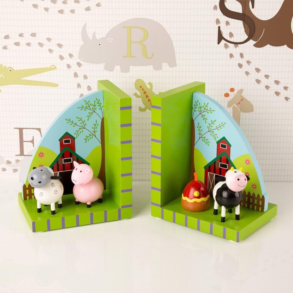 Cute Children S Farmyard Animals Bookends Forever Bespoke