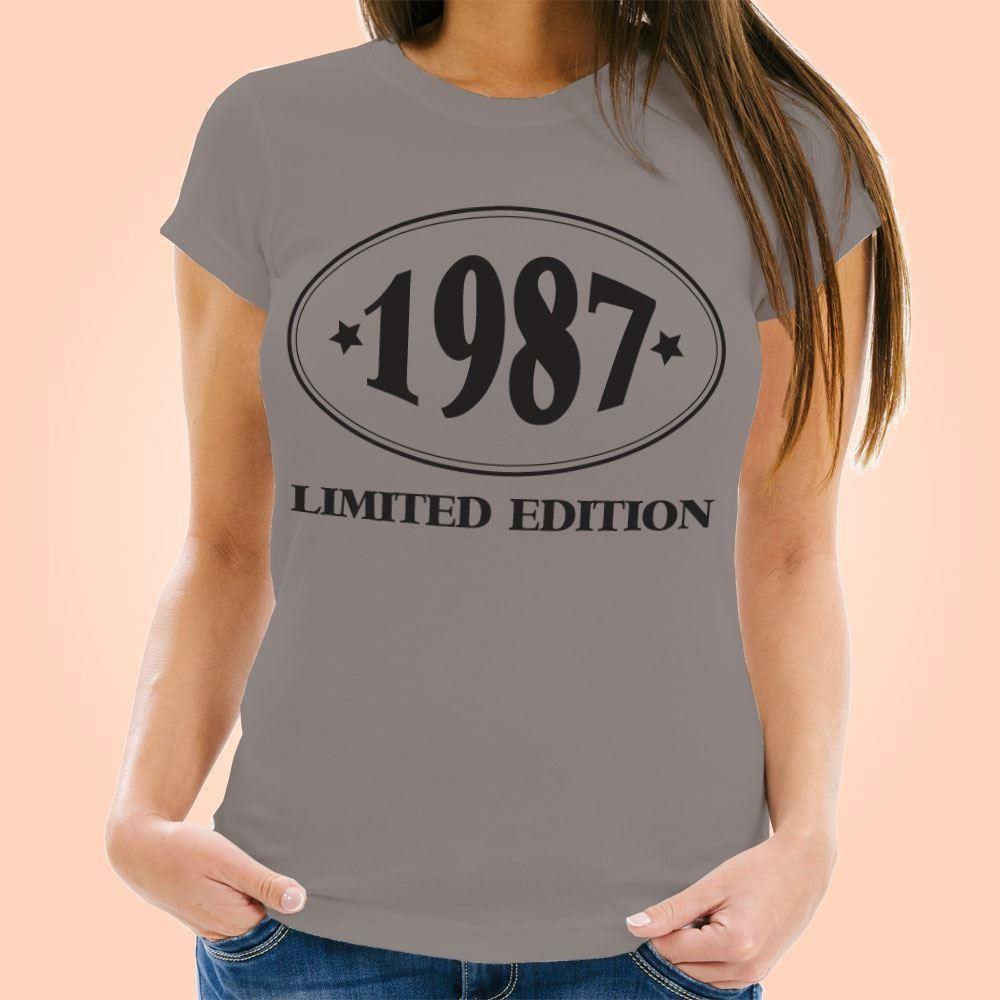 Customised Limited Edition Womens Grey T-Shirt