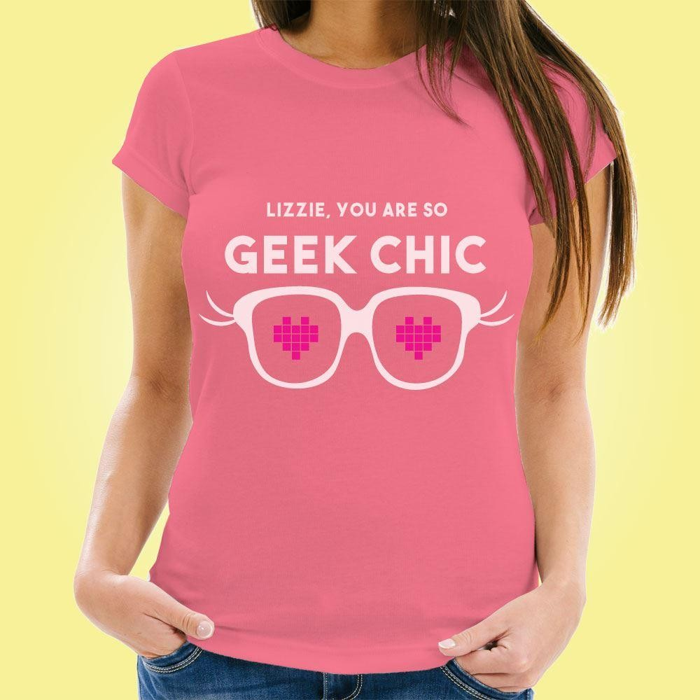 Geek Chic Personalised Womens T-Shirt