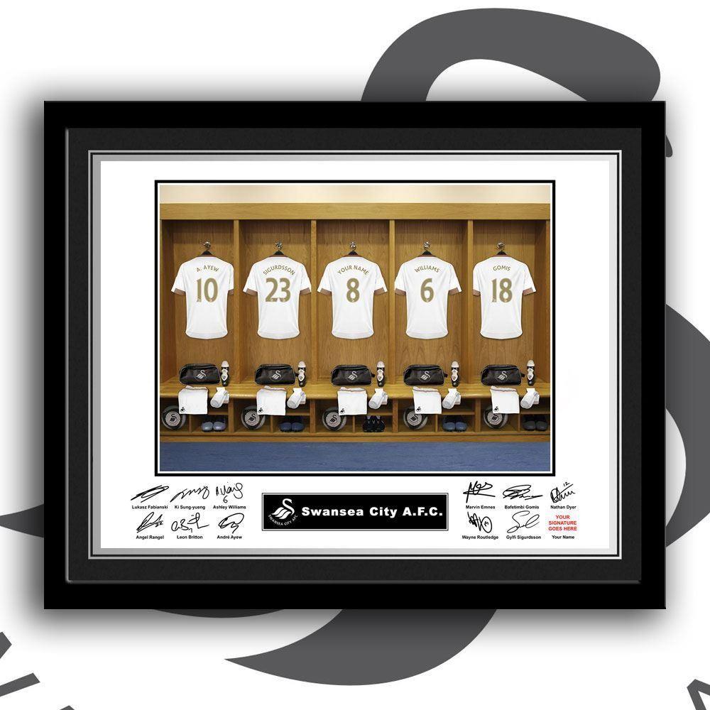 Customised Swansea Dressing Room Framed Print