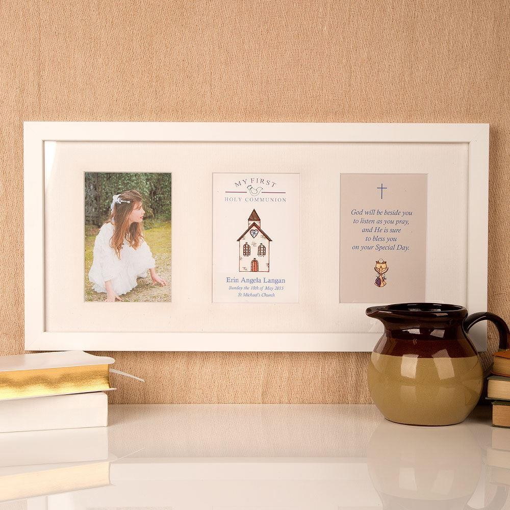 Personalised Communion Church 3 Aperture Frame