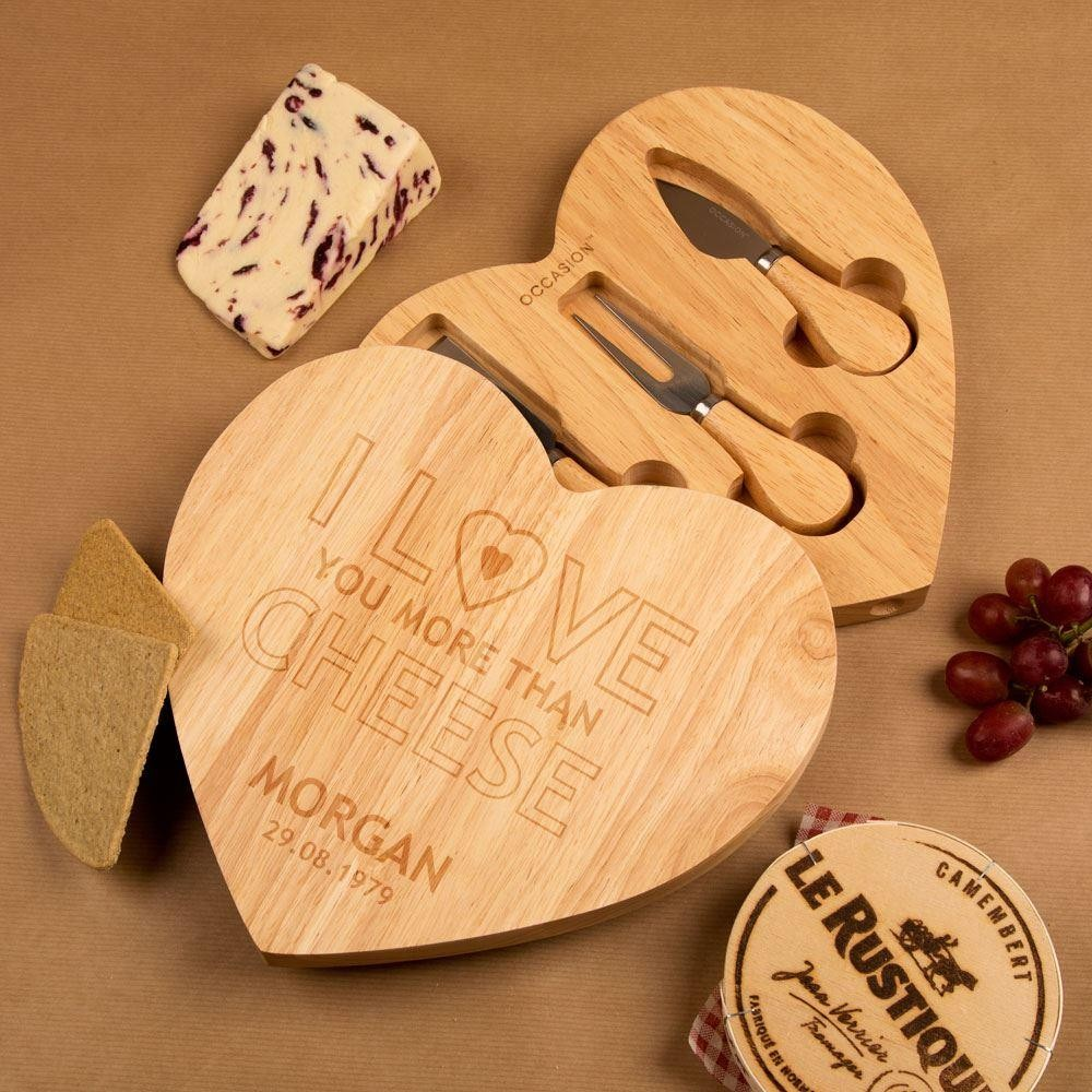 Love You More Than Cheese Personalised Cheeseboard