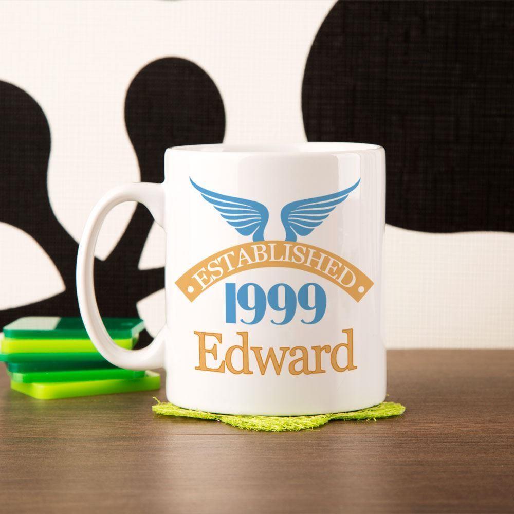 Boys 16th Birthday Established Since Mug