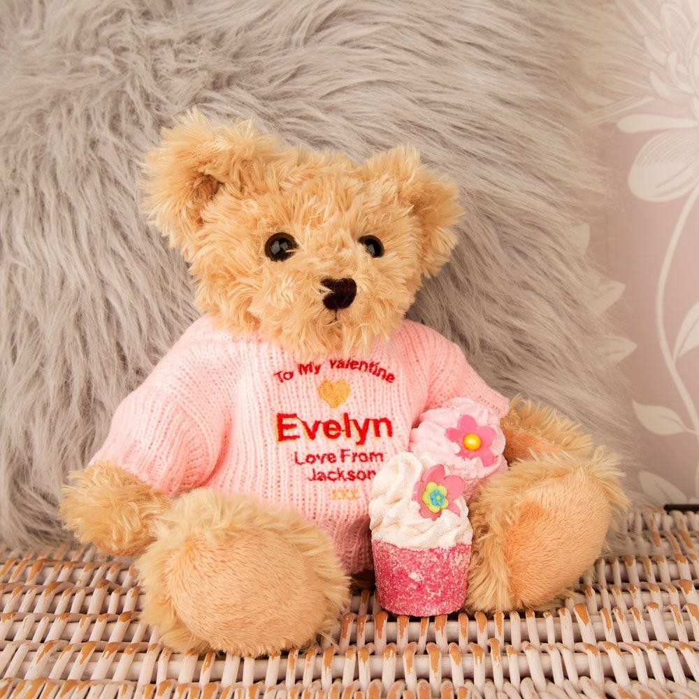 Personalised Valentine Teddy Bear For Her