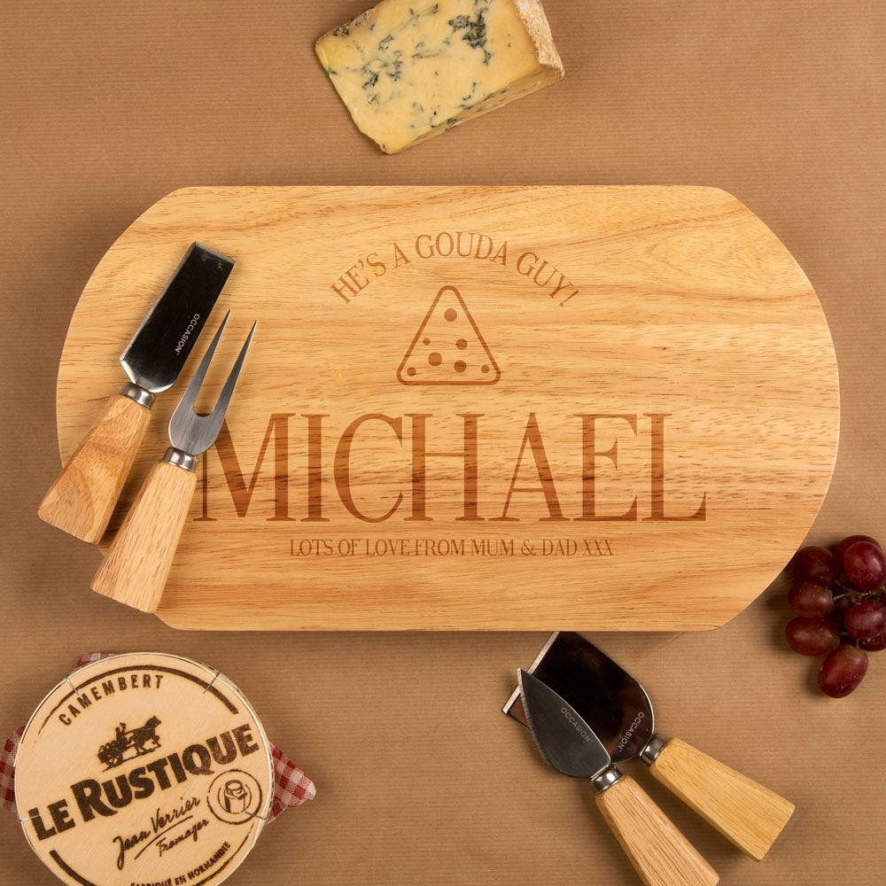 He is a Gouda Guy Customised Oval Cheeseboard