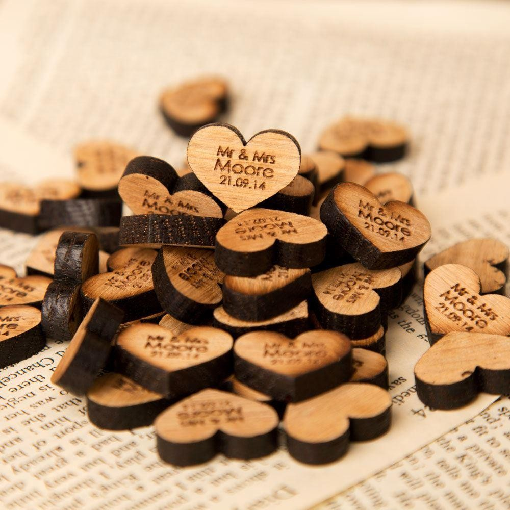 Personalised Wedding Table Gifts : Personalised Wooden Table Decorations Forever Bespoke
