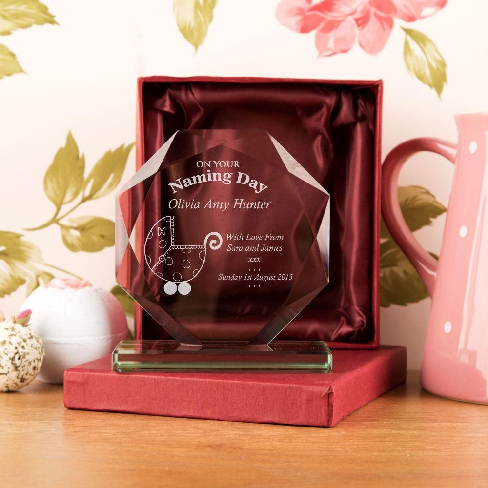 Personalised Naming Day Cut Glass Skye Facet