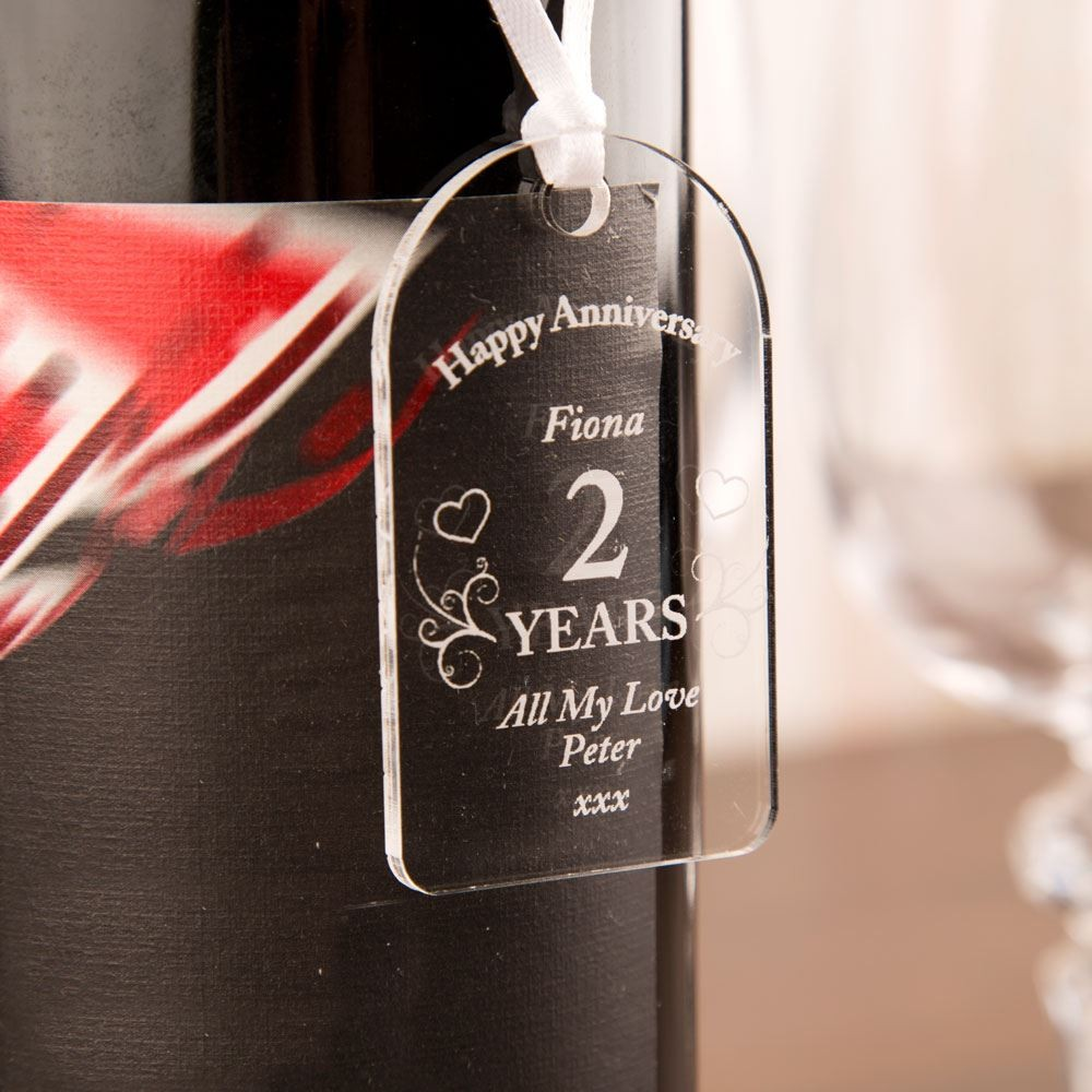 Customised Anniversary Acrylic Gift Tag