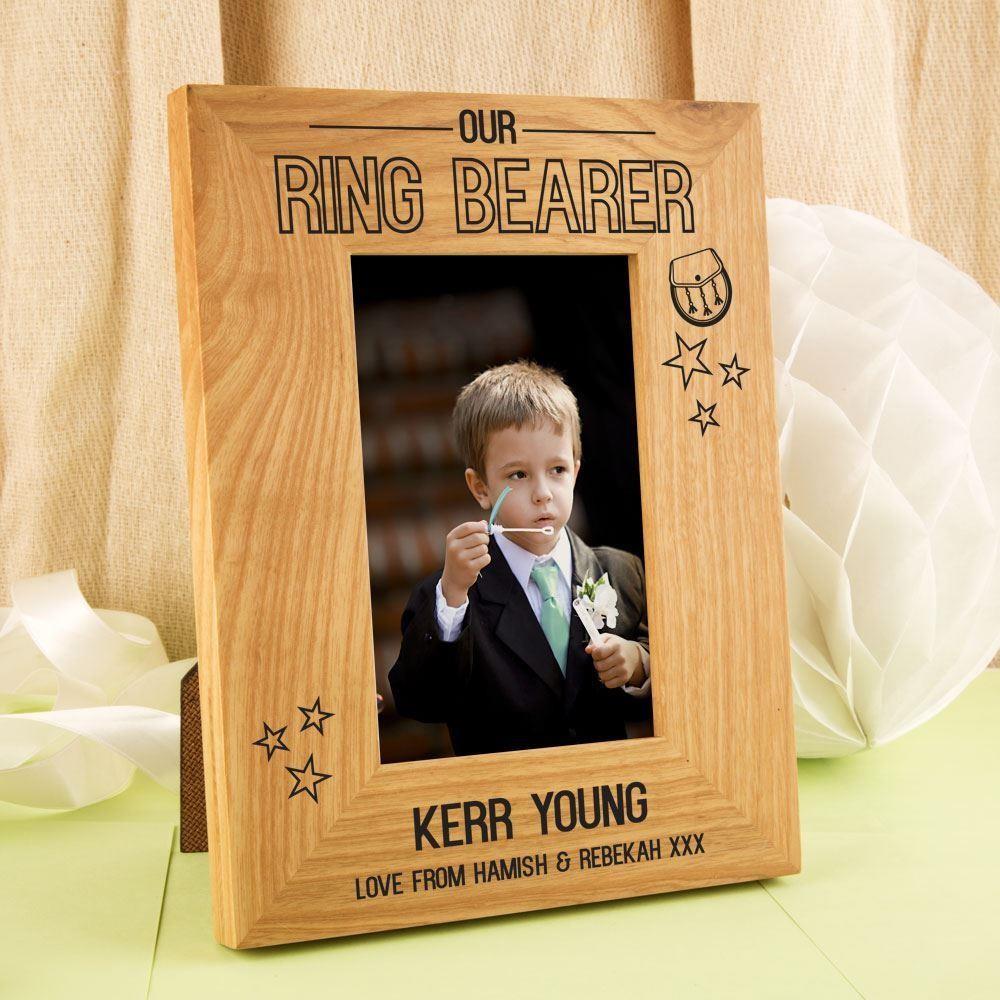 Scottish Ring Bearer Personalised Oak Frame|Forever Bespoke