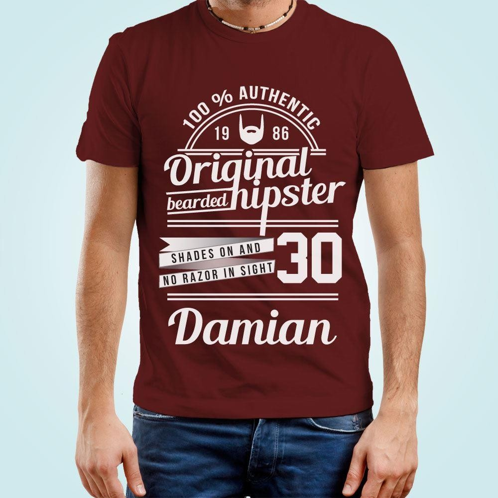 Personalised Original Hipster Mens T-Shirt
