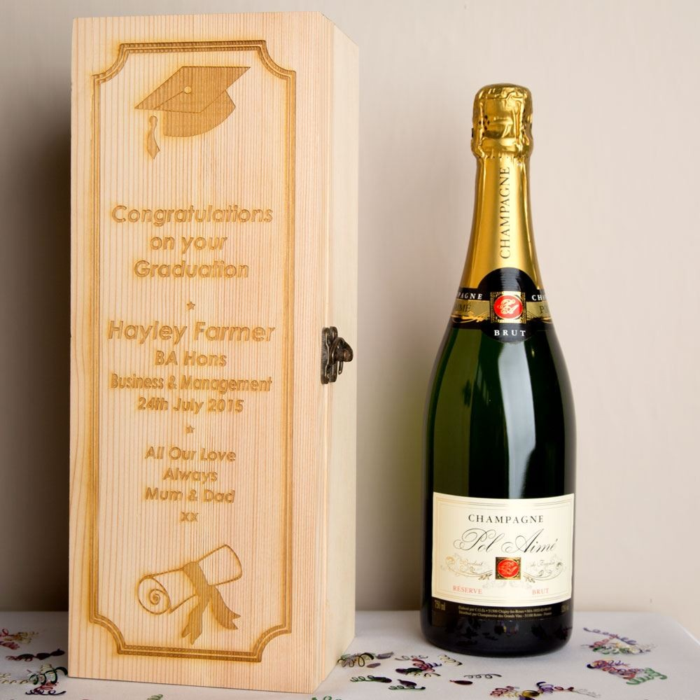 Graduation Wooden Wine Box