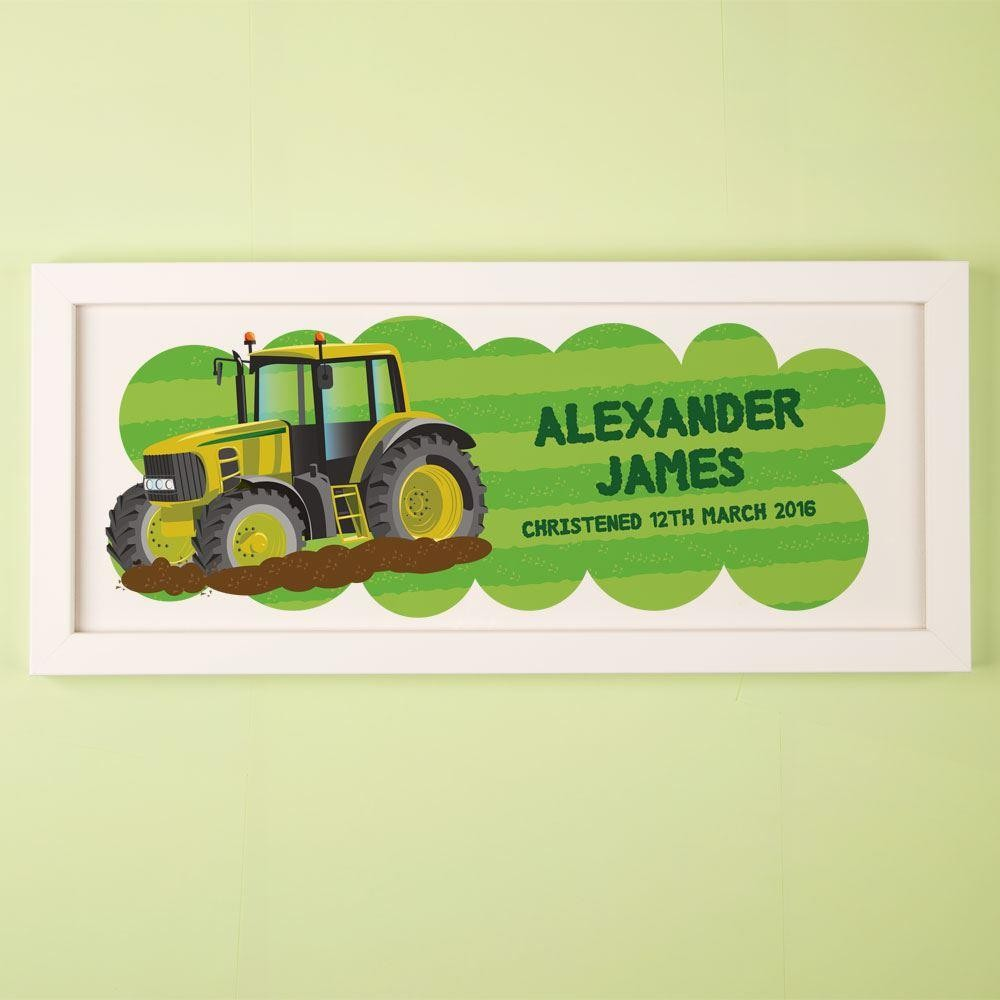 Bold Personalised Tractor Framed Print