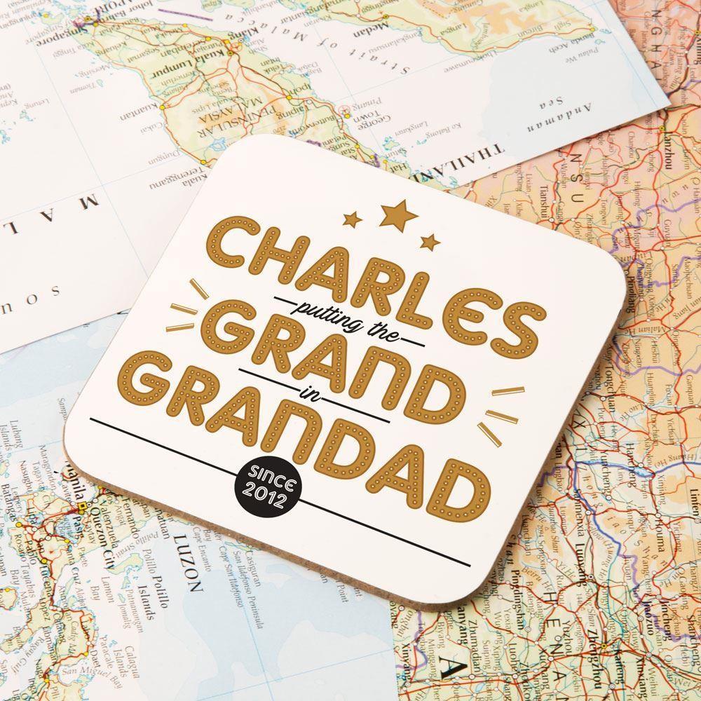 Customised Grand Grandad Drinks Coaster
