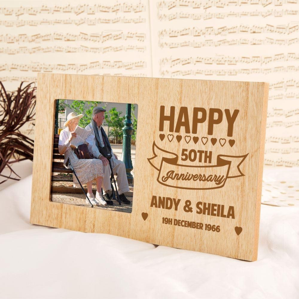 Personalised 50th Wedding Anniversary Photo Frame