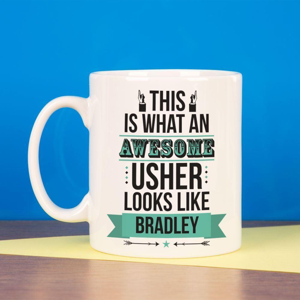 Personalised Awesome Usher Mug