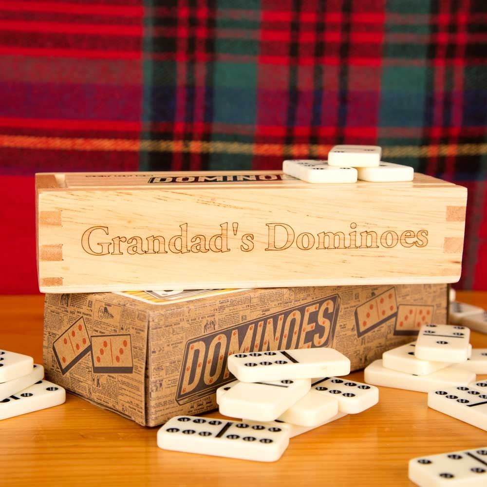 Set Of Dominoes With Wooden Box