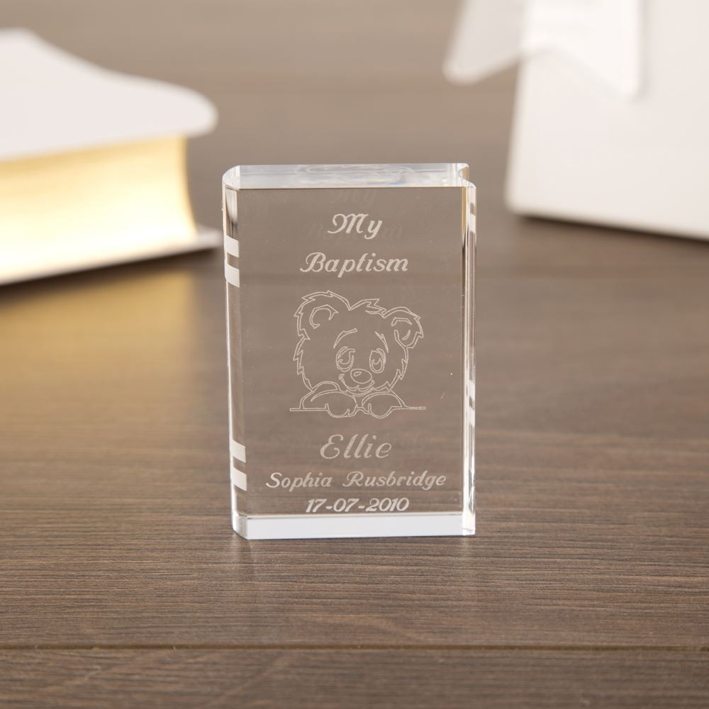 Teddy Miniature Glass Book
