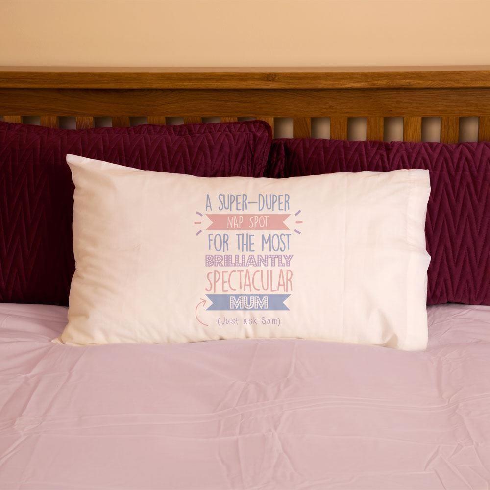 Personalised Best Mum Mummy...Just Ask Pillowcase