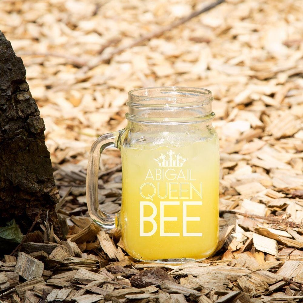 Queen Bee Customised Mason Jar