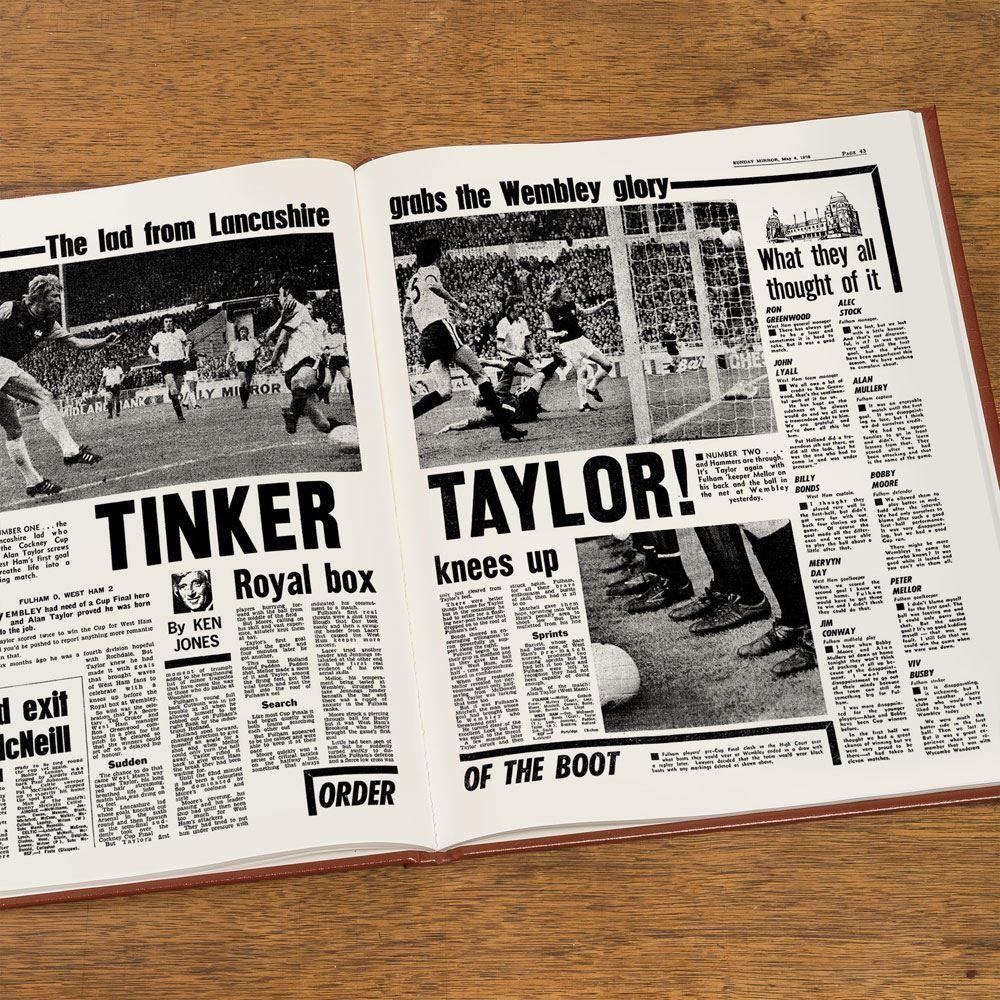 Bespoke West Ham United Football Club Headline Book