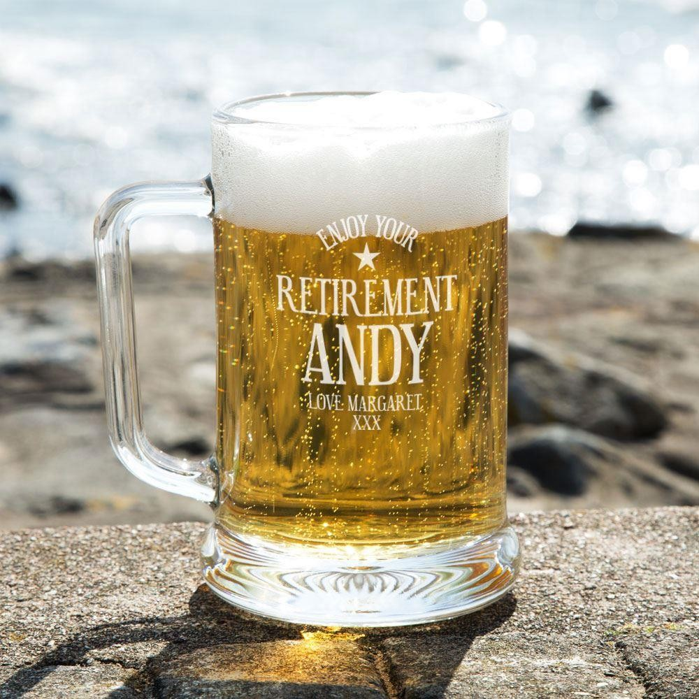 Customised Retirement Pint Beer Tankard Forever Bespoke