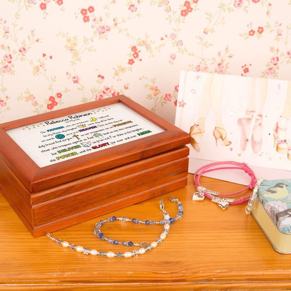 Girls Lords Prayer Keepsake Musical Jewellery Box