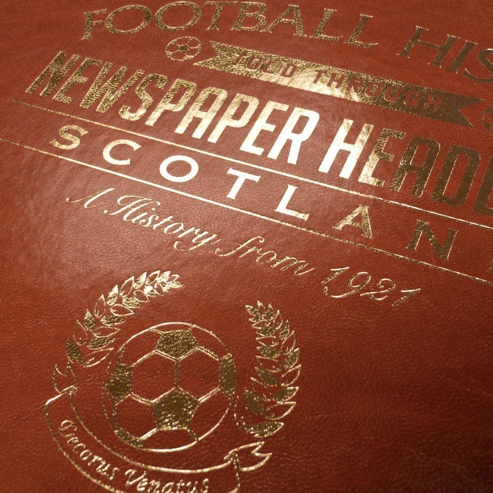 Personalised Scotland Football Club Headline Book