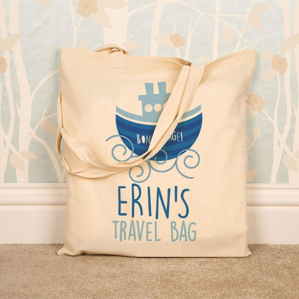 Custom Natural Cotton Travel Tote