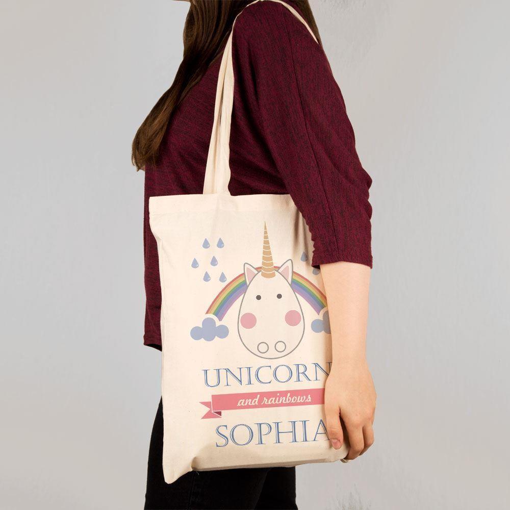 Personalised Unicorn Shoulder Tote