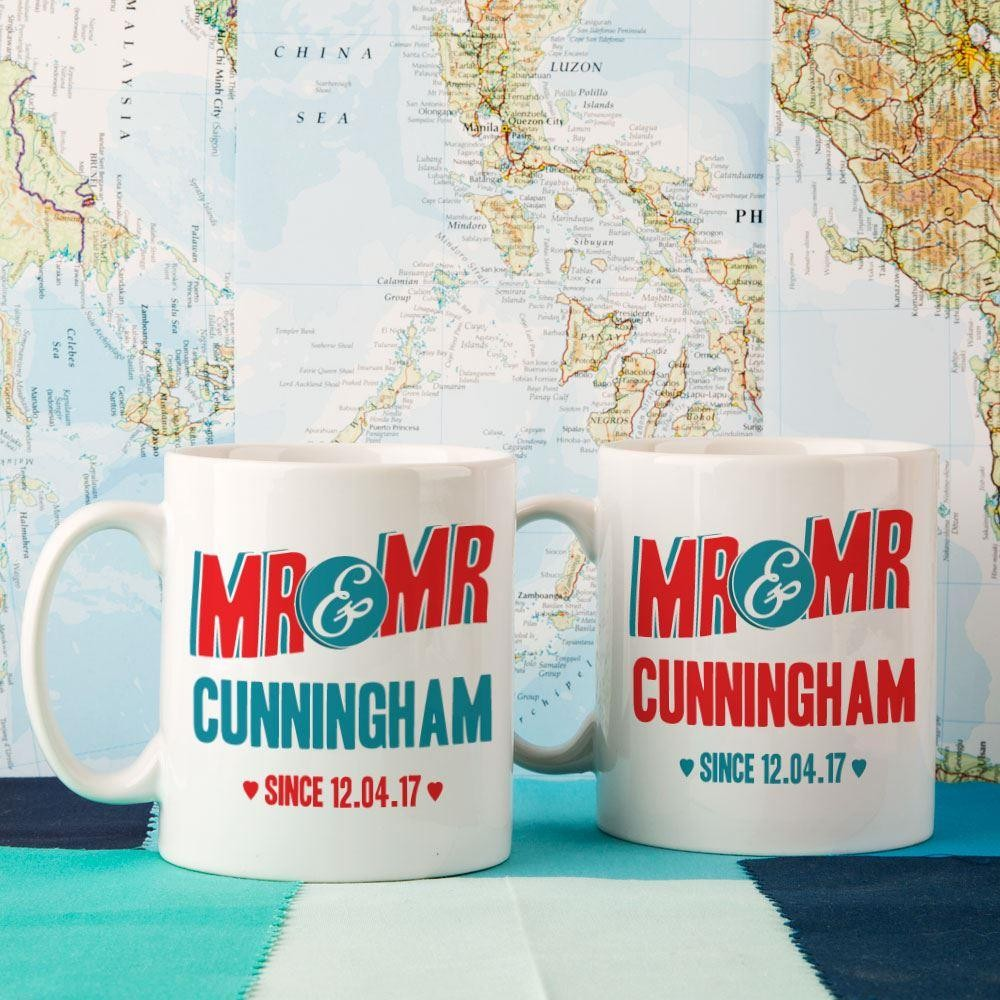 Mr & Mr Customised Double Mug Set