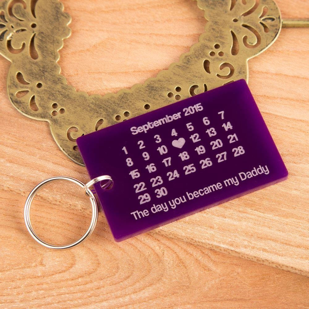 The day you became my uncle personalised wooden keyring ideal gift