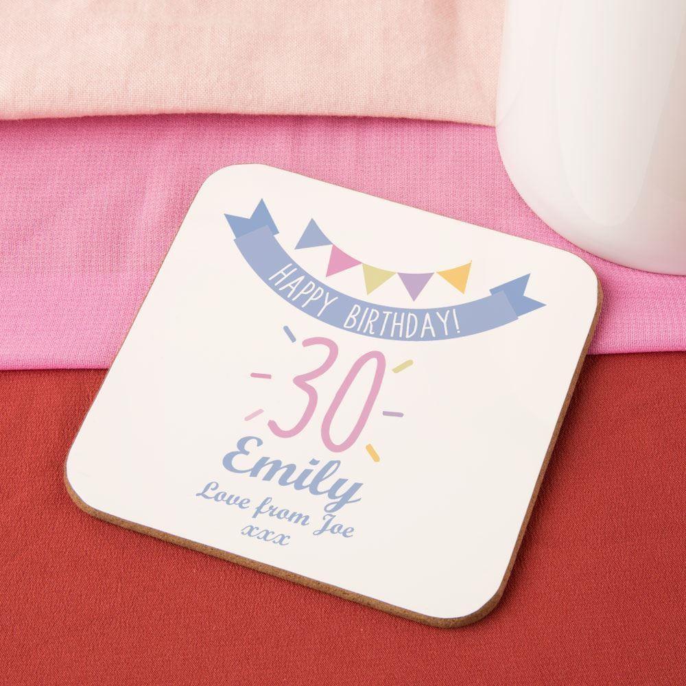 Girls 30th Birthday Drinks Coaster