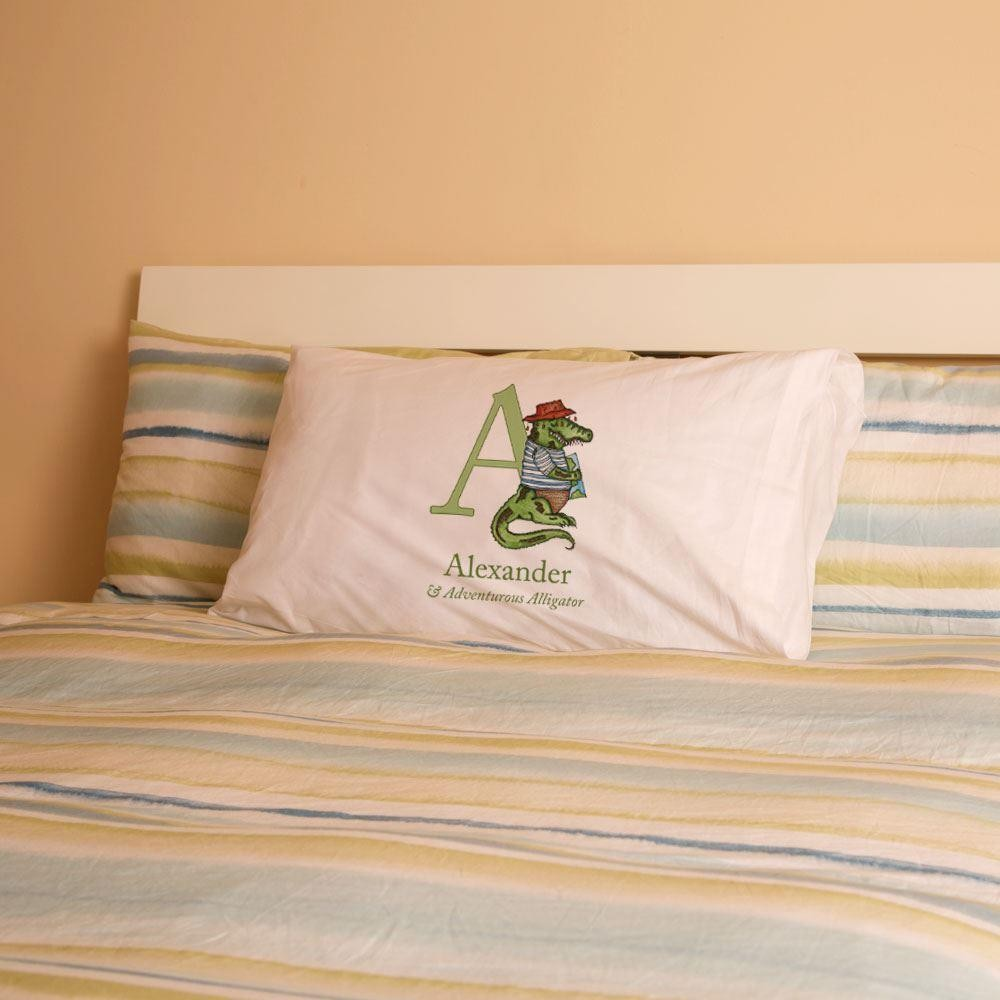 Personalised Alphabet Illustration Pillowcase