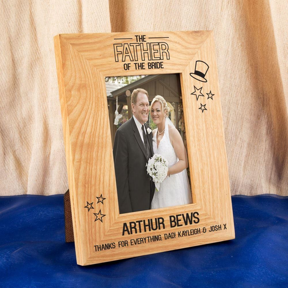 Father of the Bride Oak Photo Frame