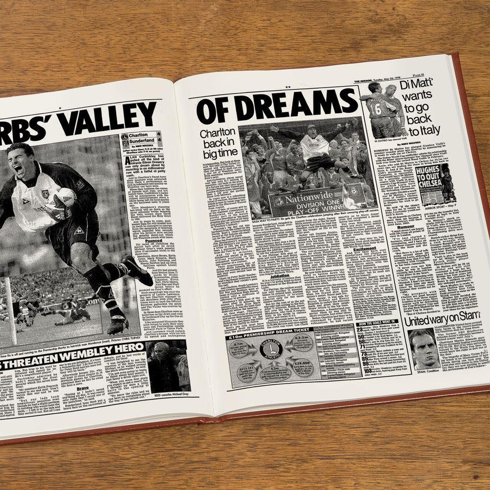 Custom Charlton Athletic Fc Headline Book Forever Bespoke