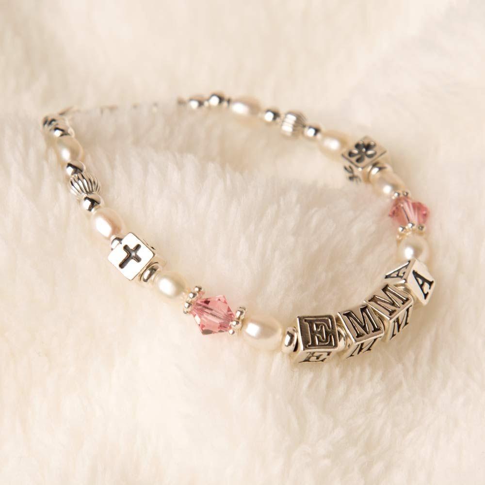 Erin Pearl & Swarovski Baby Bracelet