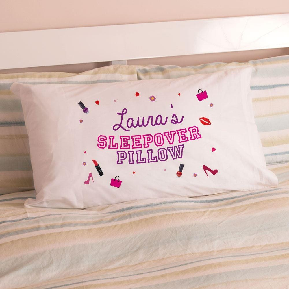 Personalised Girls Sleepover Pillowcase