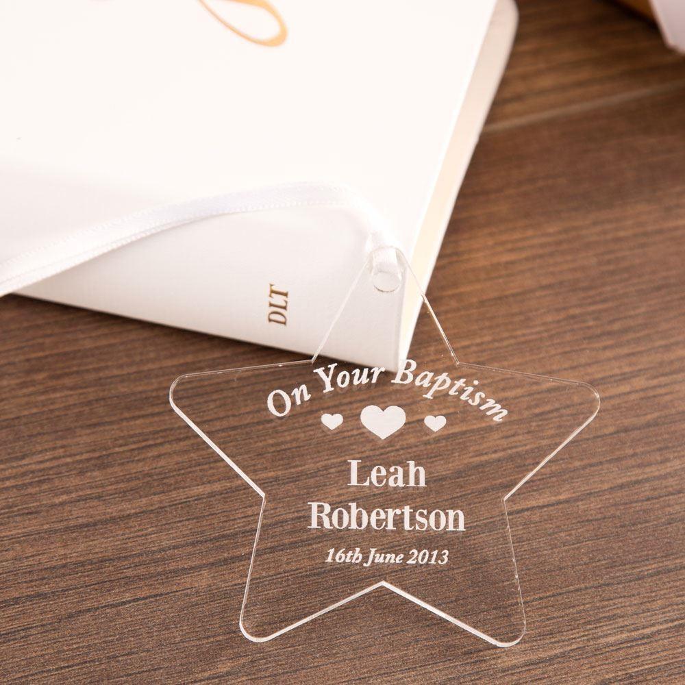 Baptism Acrylic Star