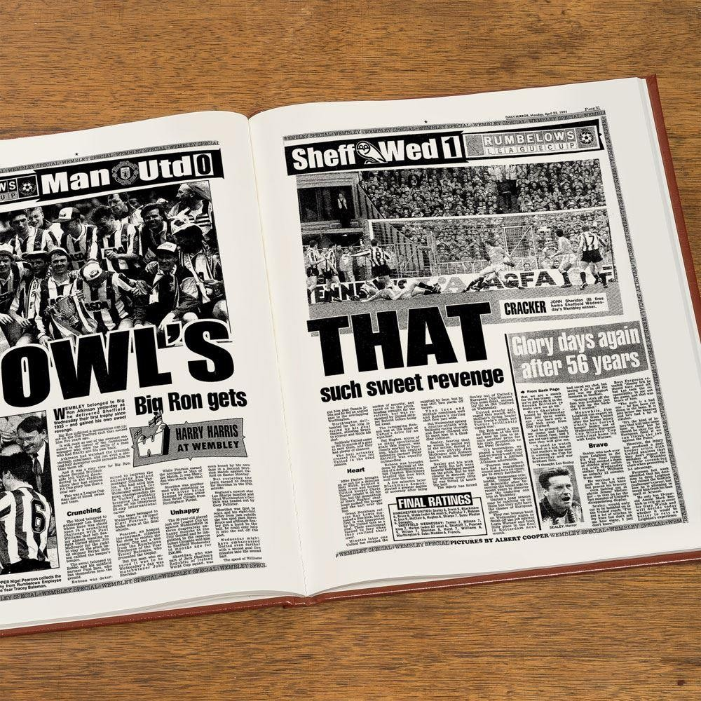 Personalised Sheffield Wednesday Football Club Headline Book