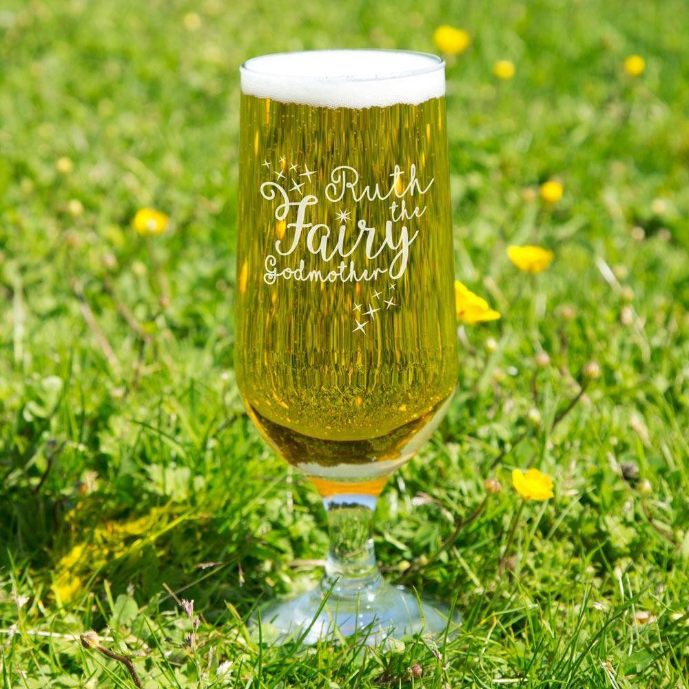 Fairy Godmother Customised Glass Beer Chalice