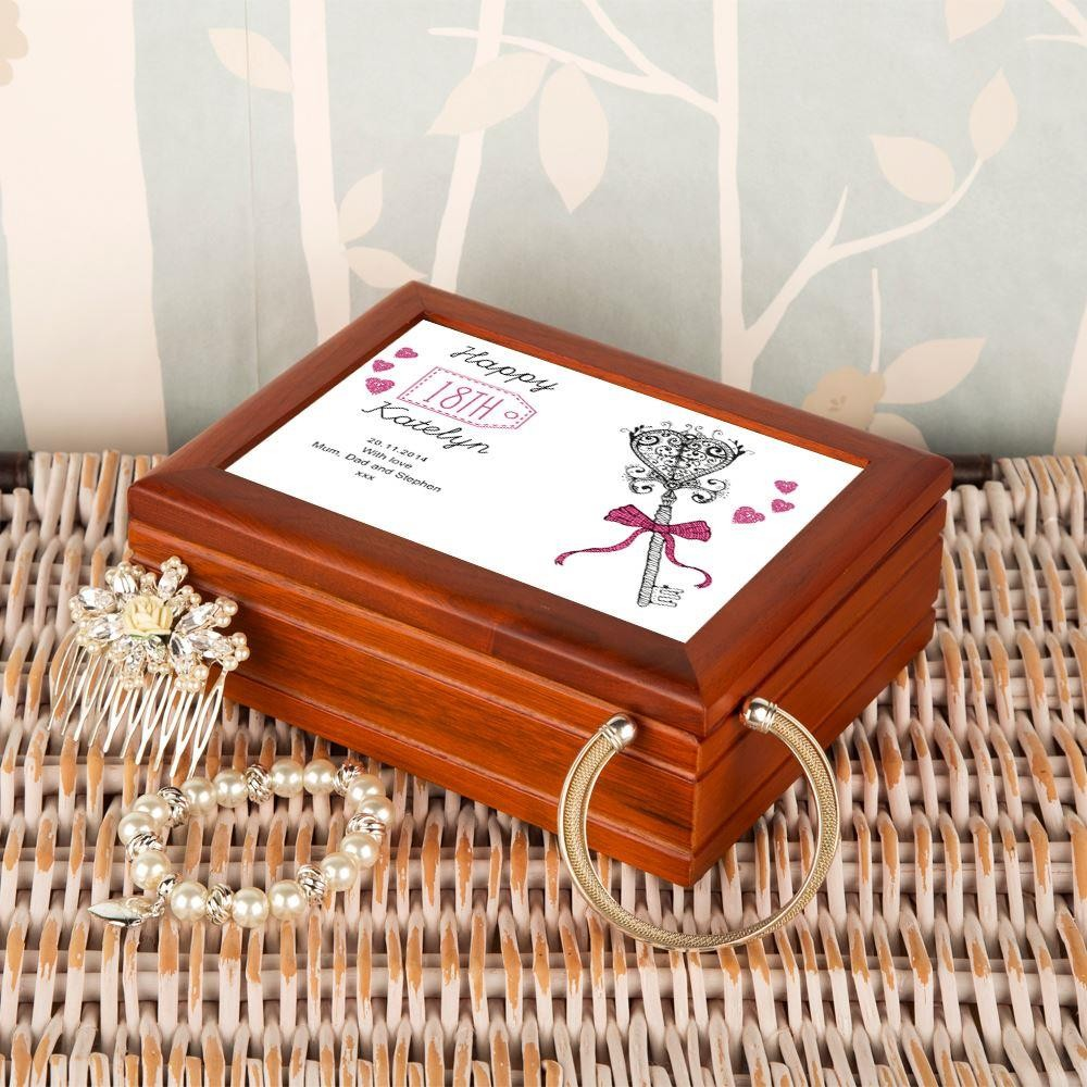 Personalised 18th Birthday Musical Jewellery Box