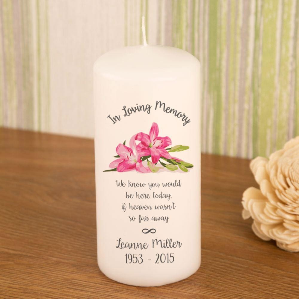 In Loving Memory Personalised Memorial Candle