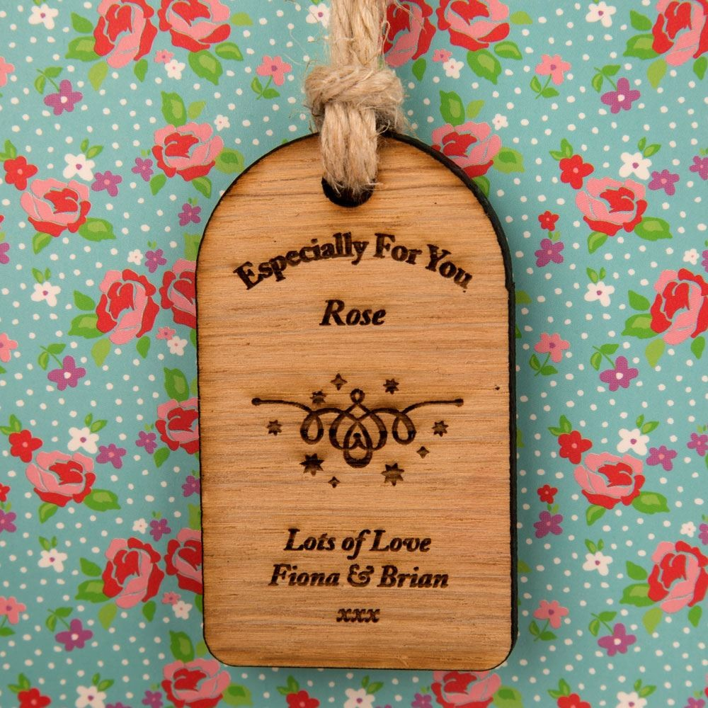 Especially For You Wooden Gift Tag